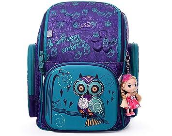 fbfff4cb834dbc Delune Backpack,Sac à Dos Enfant,Cartable Rose,Sac à Dos pour Les ...