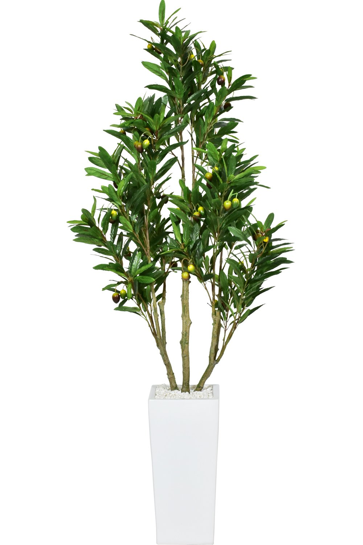 DORIS 観葉植物 光触媒 フェイクグリーン インテリア 水やり不要 果実付 オリーブフルーツ 125cm B079VGC2SZ   オリーブフルーツ/125cm