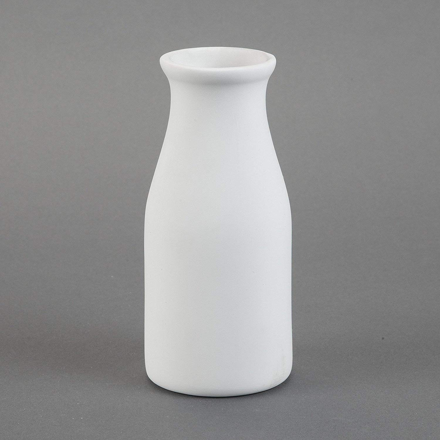 Duncan 31221 Small 3.25 Inch Milk Bottle, Case of 6 Pieces, Unfinished Ceramic Bisque, With How To Paint Your Own Pottery Booklet Duncan Enterprises