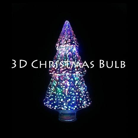 tabletop christmas tree led christmas tree decor 3d firework color chaging light bulb