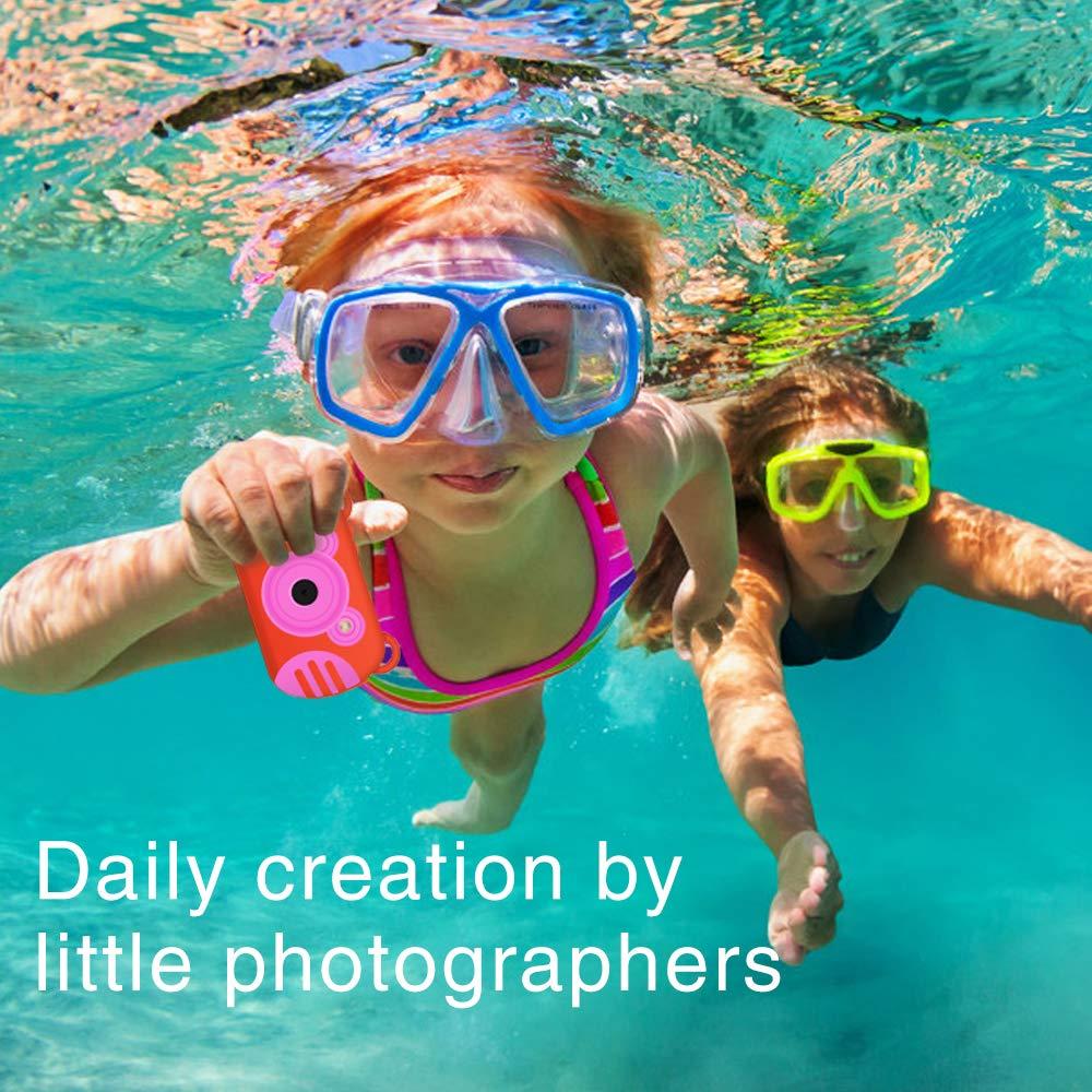 Underwater Camera for Kids, HD 1080P Waterproof Kids Camera, Video Recorder Action Preschool Camera, 8X Digital Zoom Camera with Flash & Microphone Sticker by GordVE (Image #2)