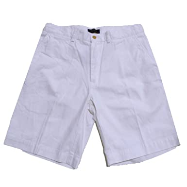 Polo Ralph Lauren Flat Front Chino Short (Polo White, 29)