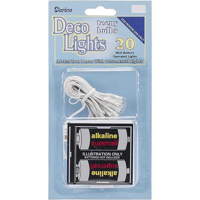Amazon.com: Darice Deco Lights Battery Operated Teeny Bulbs with ...