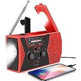 Lukasa Weather Radio Solar Hand Crank Portable Emergency Radio,AM/FM NOAA Weather Radio with LED Flashlight, 2000mAh…