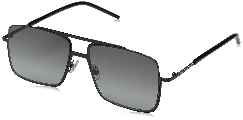 4322291118e Amazon.com  Marc Jacobs Men s Marc35s Rectangular Sunglasses Black Gray  Gradient 55 mm  Clothing