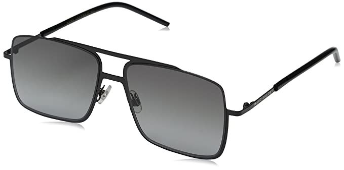 71c04315ce Marc Jacobs Men s Marc35s Rectangular Sunglasses Black Gray Gradient 55 mm
