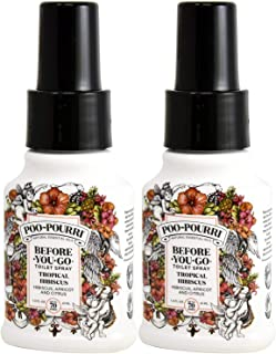 product image for Poo-Pourri Before You Go Toilet Spray Tropical Hibiscus 1.4 Ounce Bottle, 2 Pack