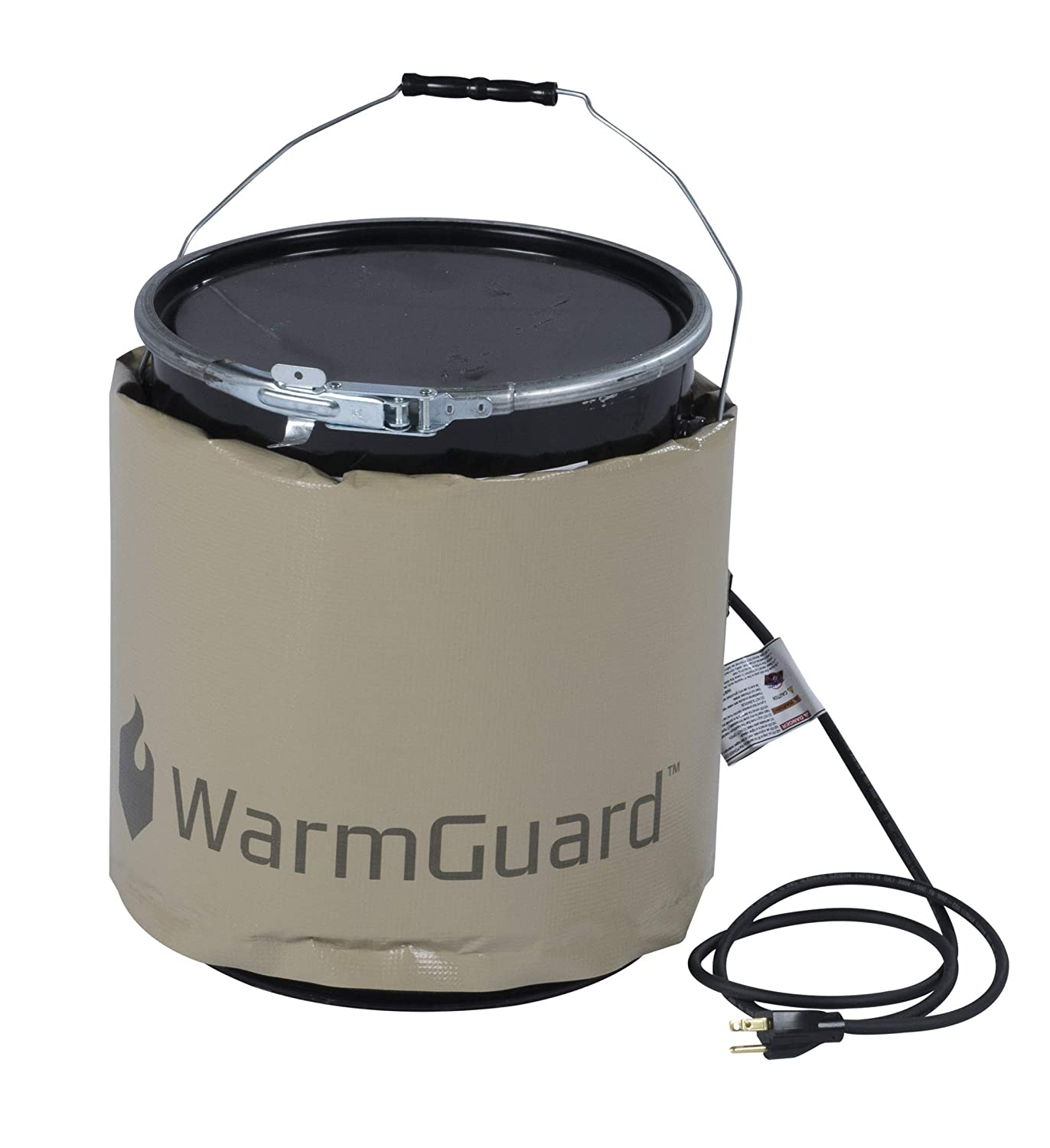 WarmGuard WG05 Insulated Pail Band Heater - Bucket Heater, Fixed Internal Thermostat Max Temp 145 F