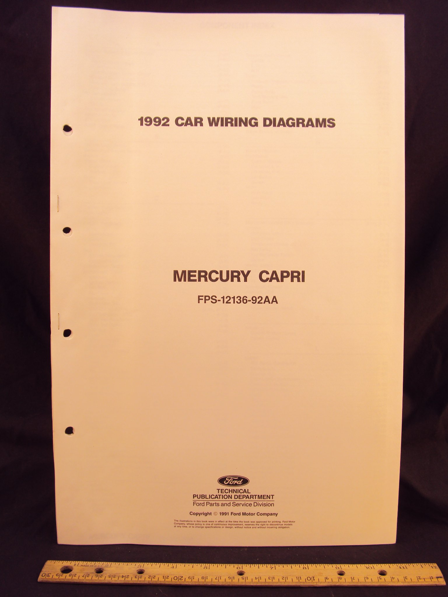 92 Mercury Capri Wiring Diagram Electrical Diagrams Fig 2 1979 Mustang And 1992 Schematics Ford Bayliner