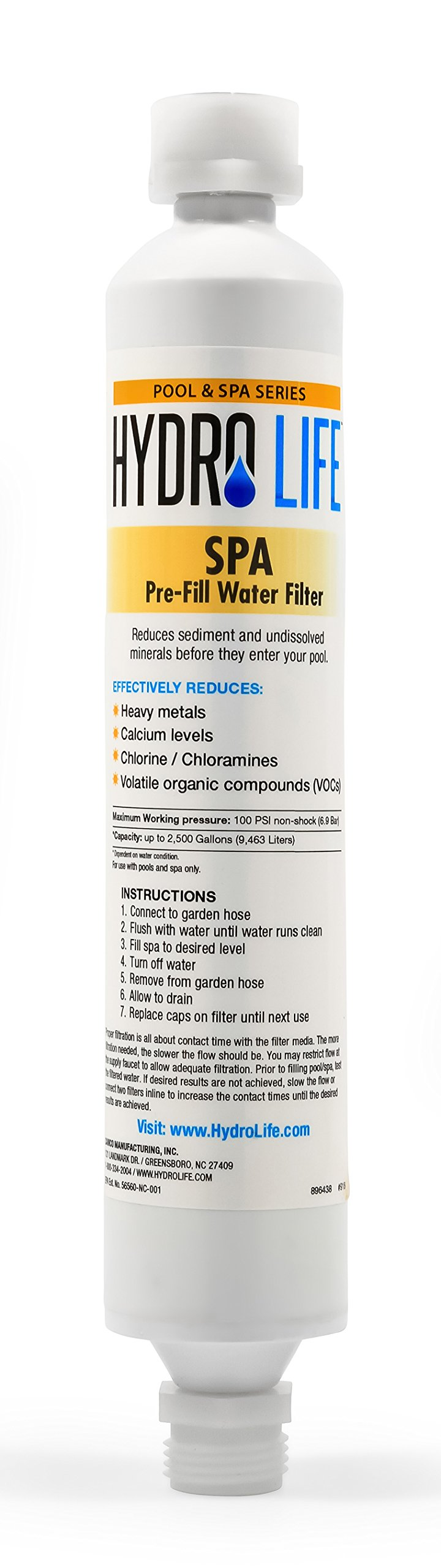 Hydro Life 52800 Spa Pre-Fill Water Filter by Hydro Life