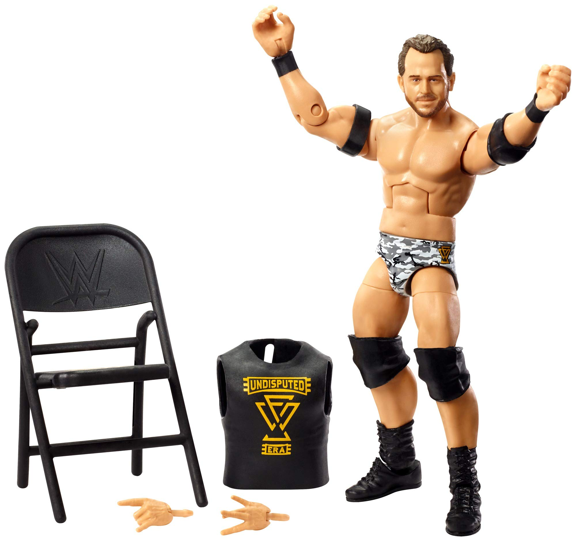 WWE Roderick Strong Elite Series #72 Deluxe Action Figure with Realistic Facial Detailing, Iconic Ring Gear & Accessories