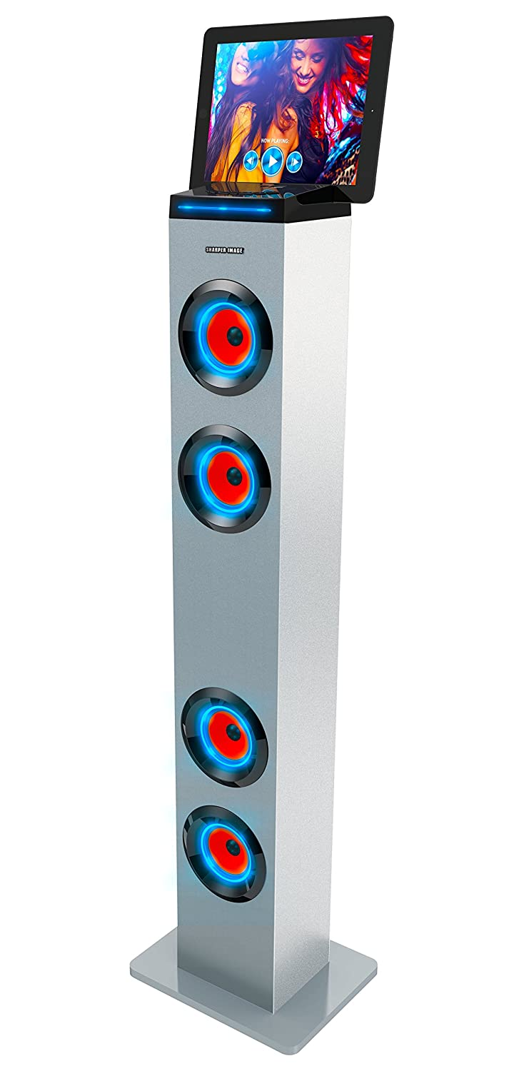 Sharper Image Sbt1001wh Wireless Tower Speaker With Blue