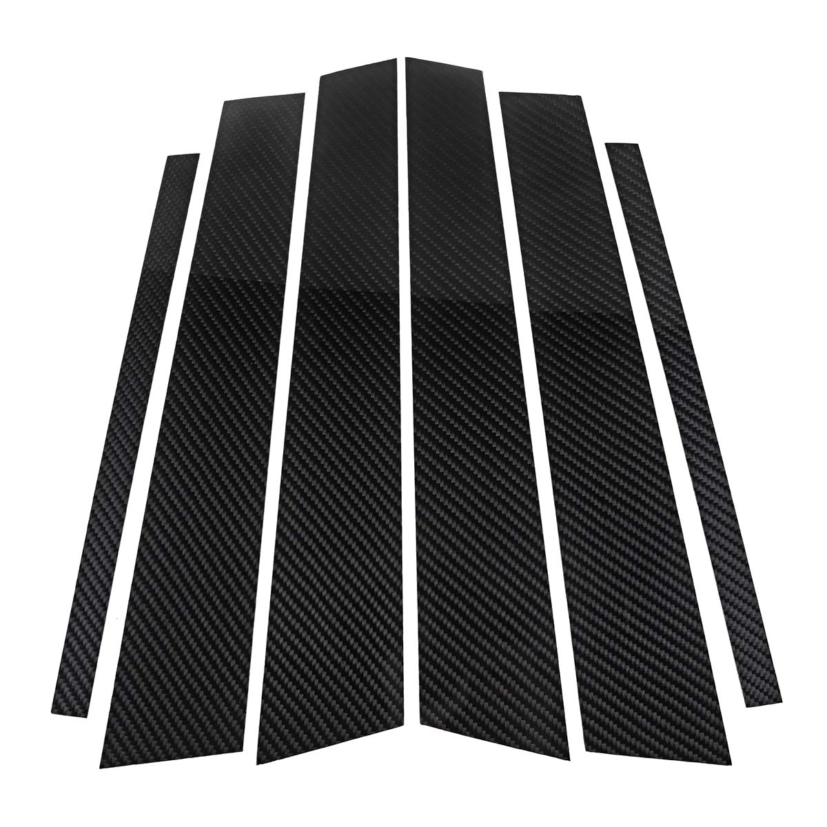 Yoton Exterior Accessories Carbon Fiber Car Window B-Pillars Molding Trim Car Styling Stickers for BMW 3 5 Series