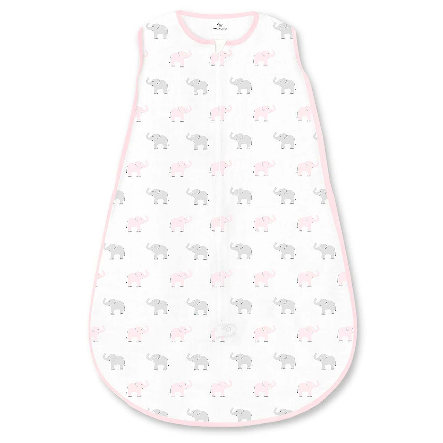 Amazing Baby by SwaddleDesigns sacco nanna in cotone con zip a due vie