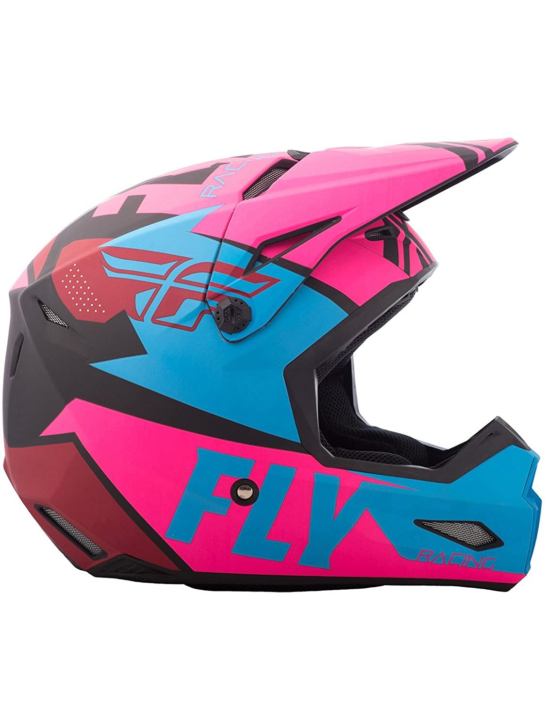 Amazon.com: FLY RACING ELITE GUILD HELMET MATTE NEON PINK/BLUE/BLACK MD 73-8609-6-M: Automotive