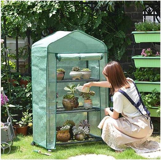CAIJUN-Malla Sombra Velas De Sombra Al Aire Libre Jardín Cubierta De Lluvia A Prueba De Agua Invernadero Protector Solar Planta Puesto De Flores, 3 Tallas (Color : Green, Size : 69x49x125cm): Amazon.es: