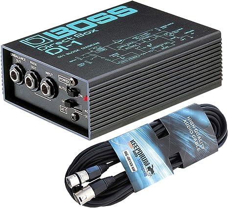 Boss DI-1 Direct Box - Caja de conexión activa y cable XLR: Amazon.es: Instrumentos musicales