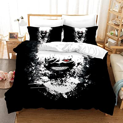 Fvfvfv Kaneki Ken:Tokyo Ghoul,Japanese Popular Anime,D Printing, Three-Piece Bed Cover, Bedding,100 Polyester,Best Gifts for Anime Fans (Size : US Queen(228228CM)): Kitchen & Dining