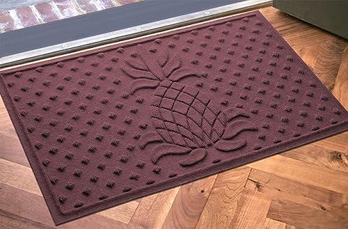 AquaShield Diamond Pineapple Mat, 2 by 3-Feet, Bordeaux