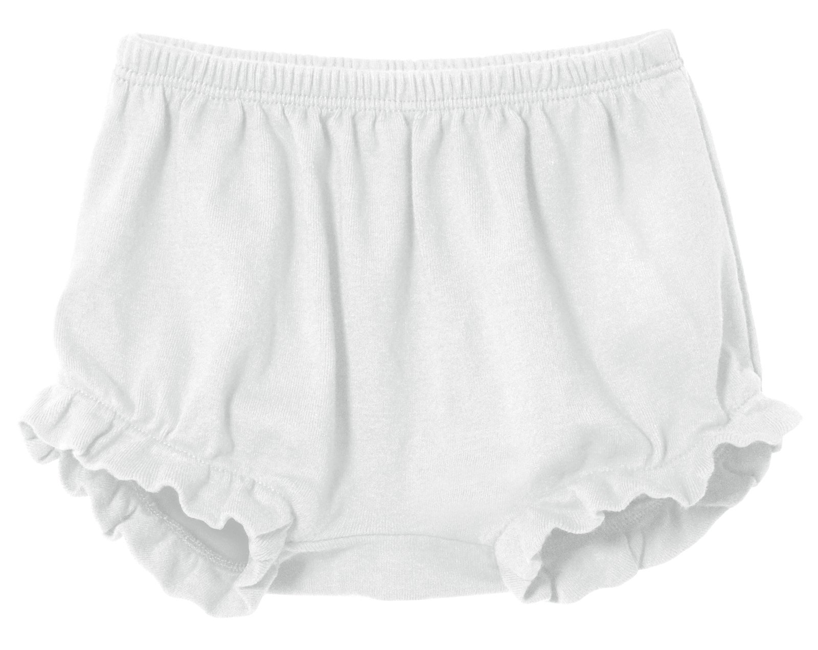 City Threads Baby Girls' and Boys' Ruffled Diaper Covers Bloomers Soft Cotton Fashionable Cute, White, 18-24Months by City Threads