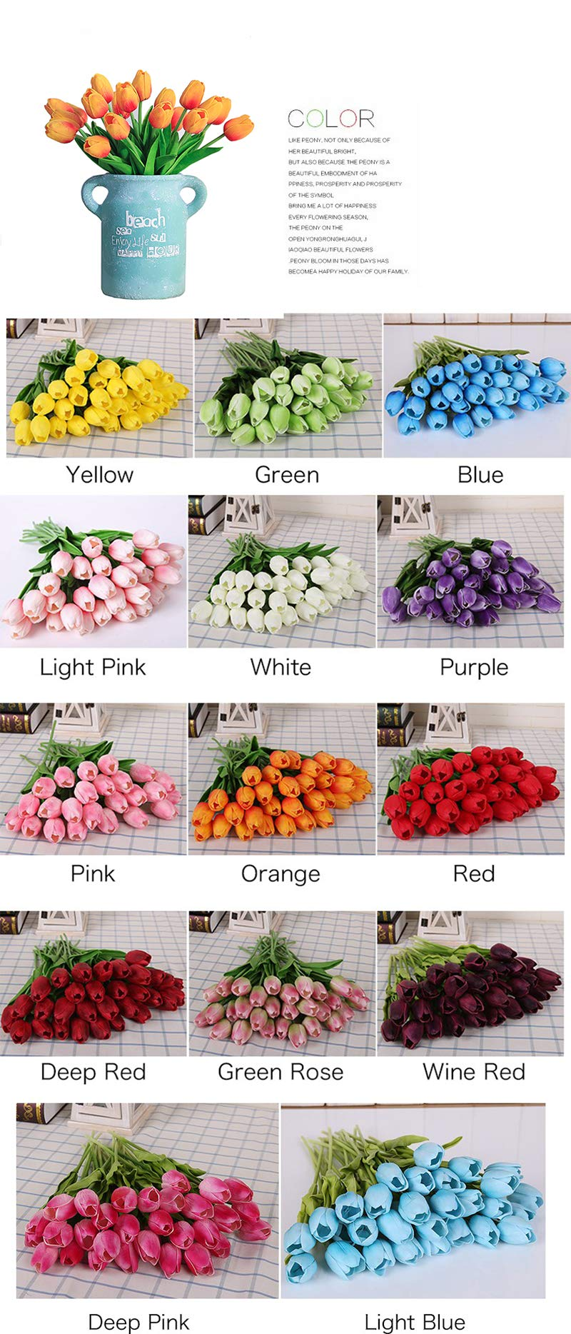 21-Pcs-Real-Touch-Tulip-Artificial-Flowers-Artificial-Fake-Silk-Flowers-Bridal-Wedding-Decorations-Wedding-Decoration-Spring-Simulation-Flowers-Vintage-Wedding-Decorations-Flowers
