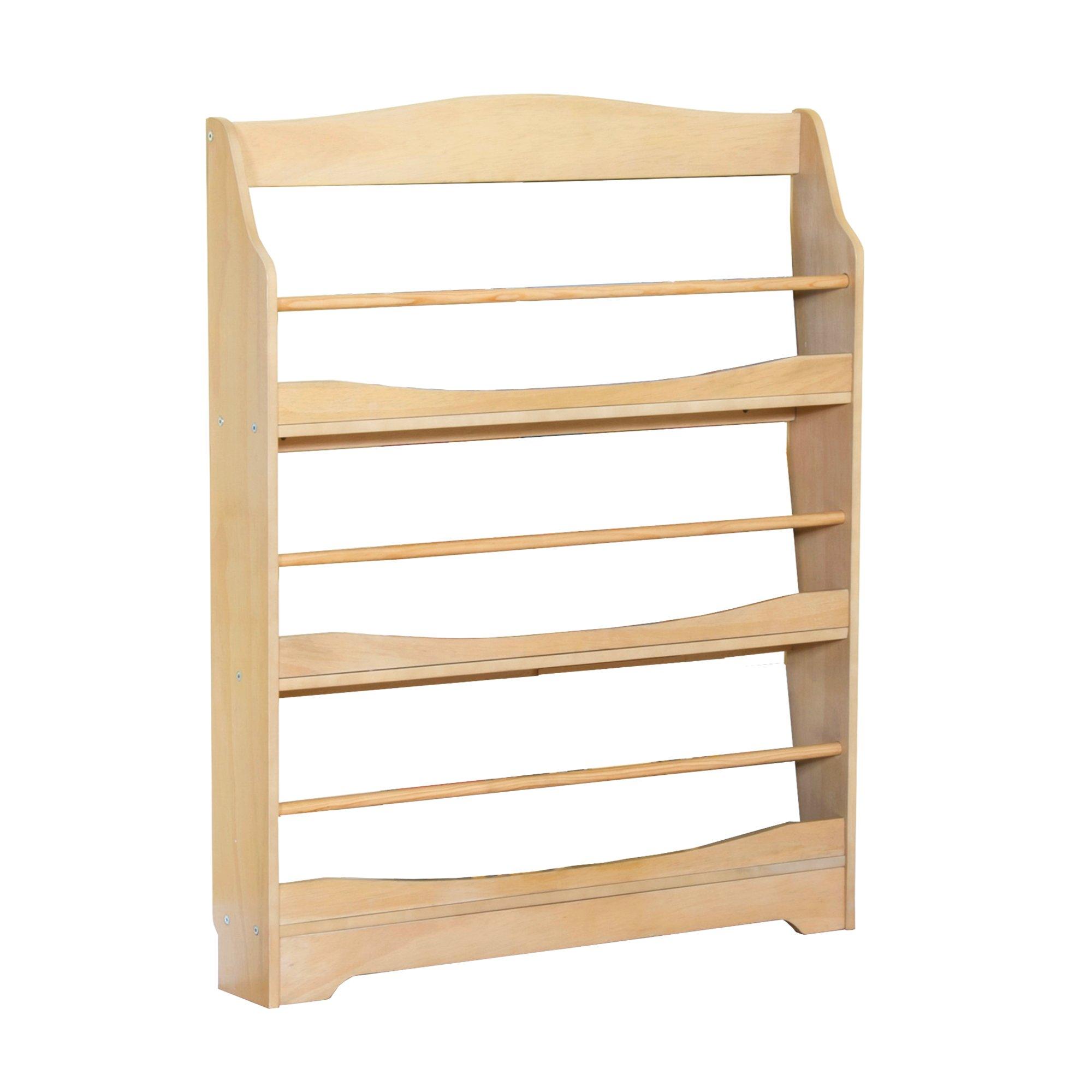 Guidecraft Expressions Natural Bookrack - Storage Bookshelf Kids School Furniture