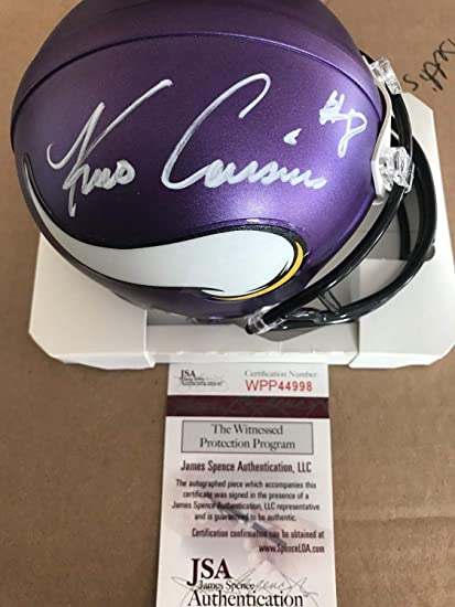 b9cd6cd328452d Image Unavailable. Image not available for. Color: Kirk Cousins Autographed  Signed Minnesota Vikings Mini Helmet ...