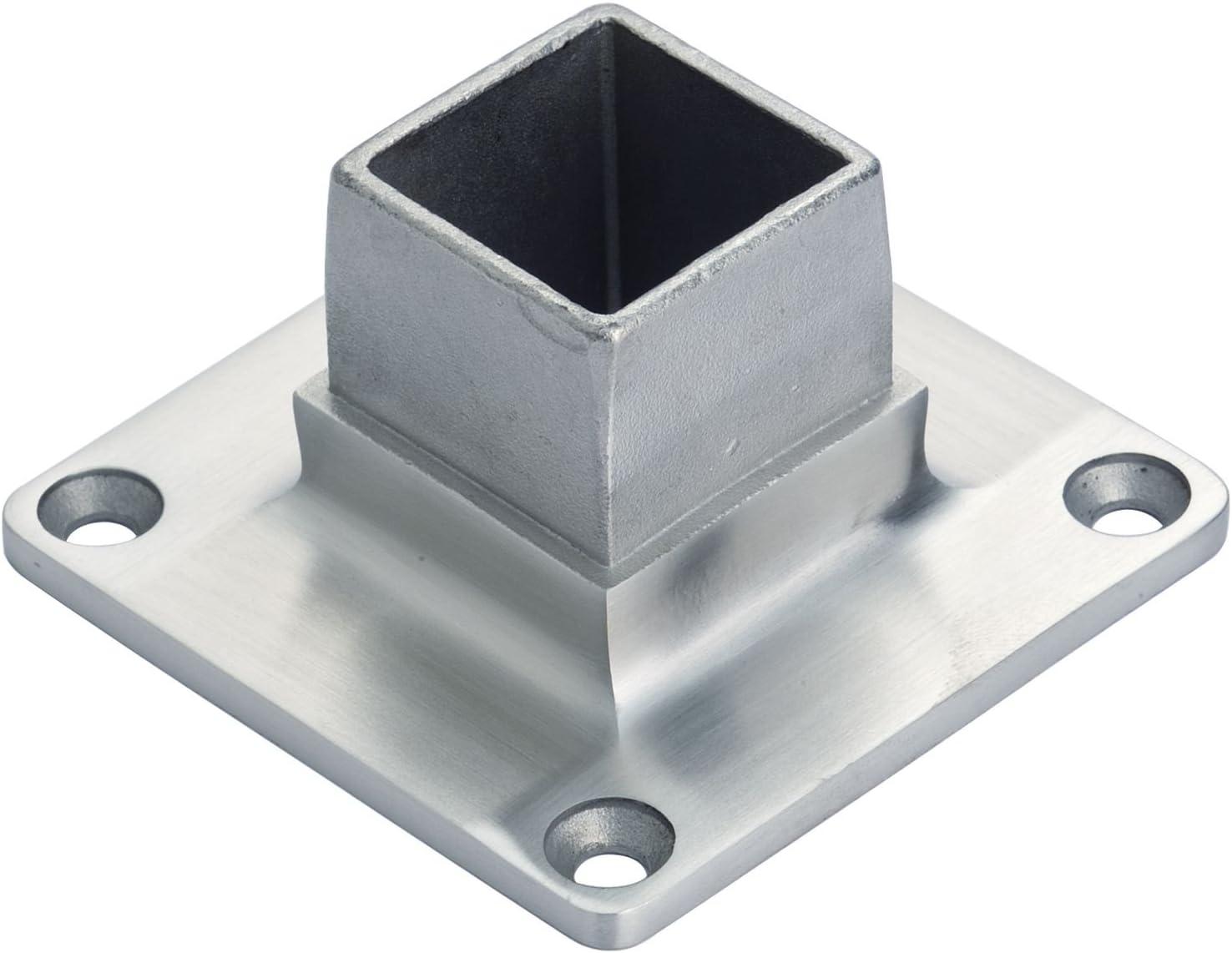 croso de pared y suelo Brida para conector Tubo cuadrado 40x 40x 2,0mm, acero inoxidable V4A, 1pieza, 102201160