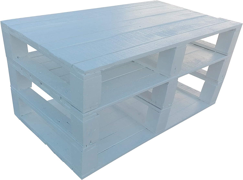 Mesa de Palets Pintada en Color Blanco - Mesitas & Mesas Modernas ...