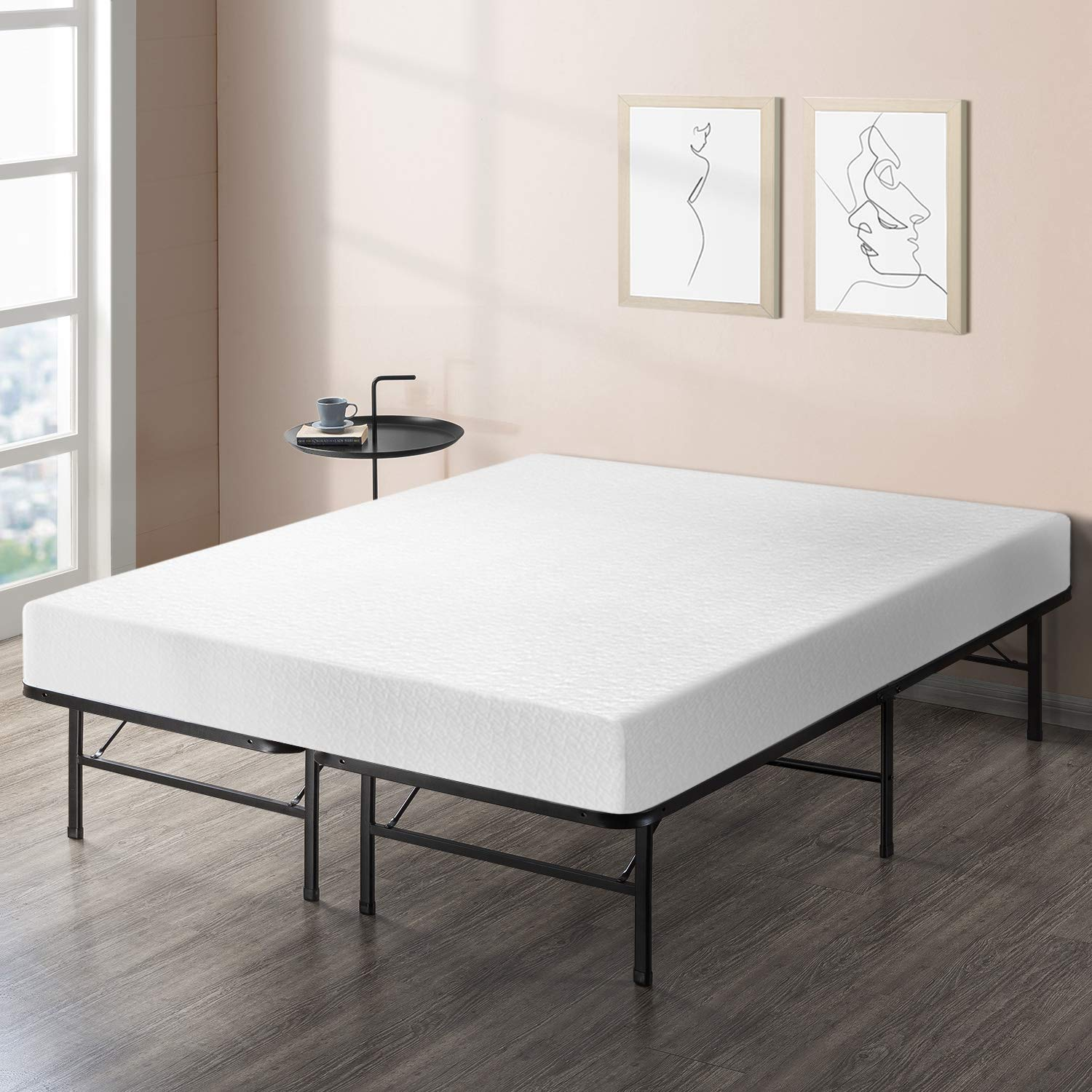 Best Price Mattress 8'' Comfort Premium Memory Foam Mattress and Bed Frame Set, King by Best Price Mattress