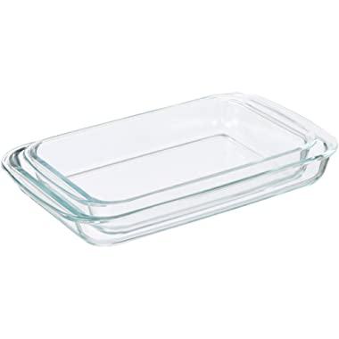AmazonBasics Glass Oblong Baking Dishes - 2-Pack