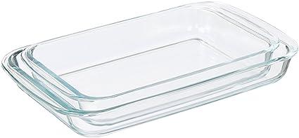 amazon com amazonbasics glass oblong baking dishes 2 pack