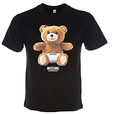 44161af0 Moschino Teddy Bear T Shirt in Grey L: Amazon.co.uk: Clothing