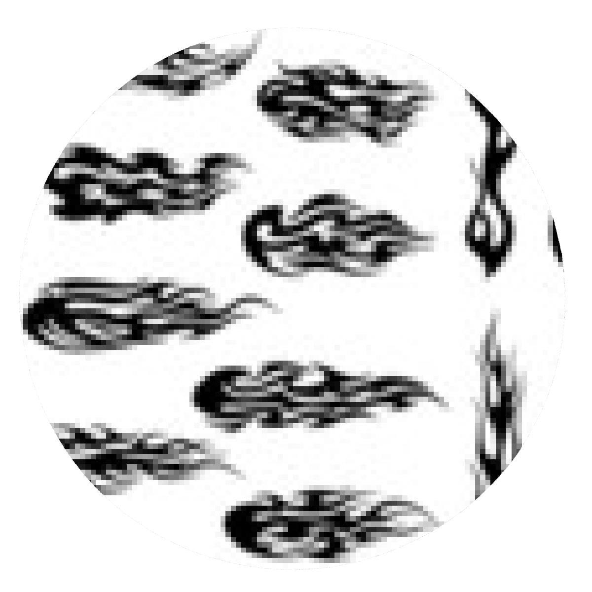alfombrilla de ratón fuego negro tribal del diseño del tatuaje ...