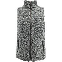 Yimoon Women's Casual Zip Up Sleeveless Fleece Sherpa Reversible Vest Gilet Jacket