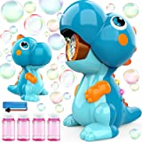 BubblePals Dinosaur Bubble Machine for Toddlers, Automatic Bubble Maker with Solutions for Kids Age 3-5 4-8, Outdoor Water To
