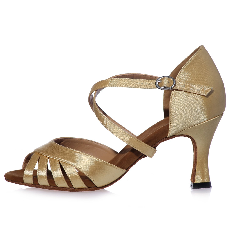 Plataforma Para Zapatos Baile Mujer Elobaby De Satin Performance 2DH9IWEeY