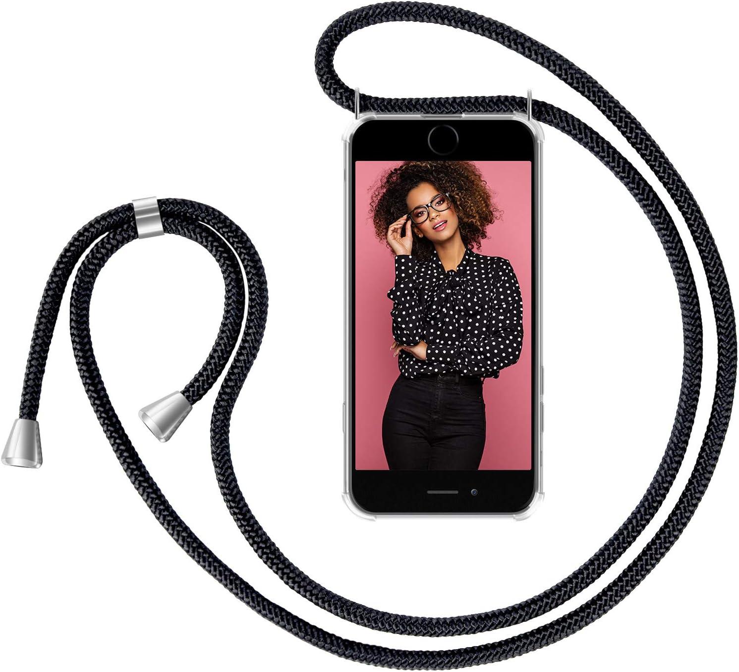 Funda con Collar de Cord/ón para Smartphone Carcasa con Correa para Celular para Llevar ZhinkArts Cadena para Tel/éfono M/óvil Compatible con Apple iPhone 7 Plus // 8 Plus Oro