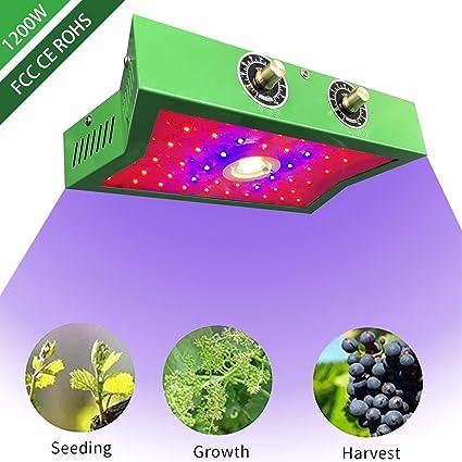 Amazon.com: COB - Lámpara LED de crecimiento de plantas 1200 ...