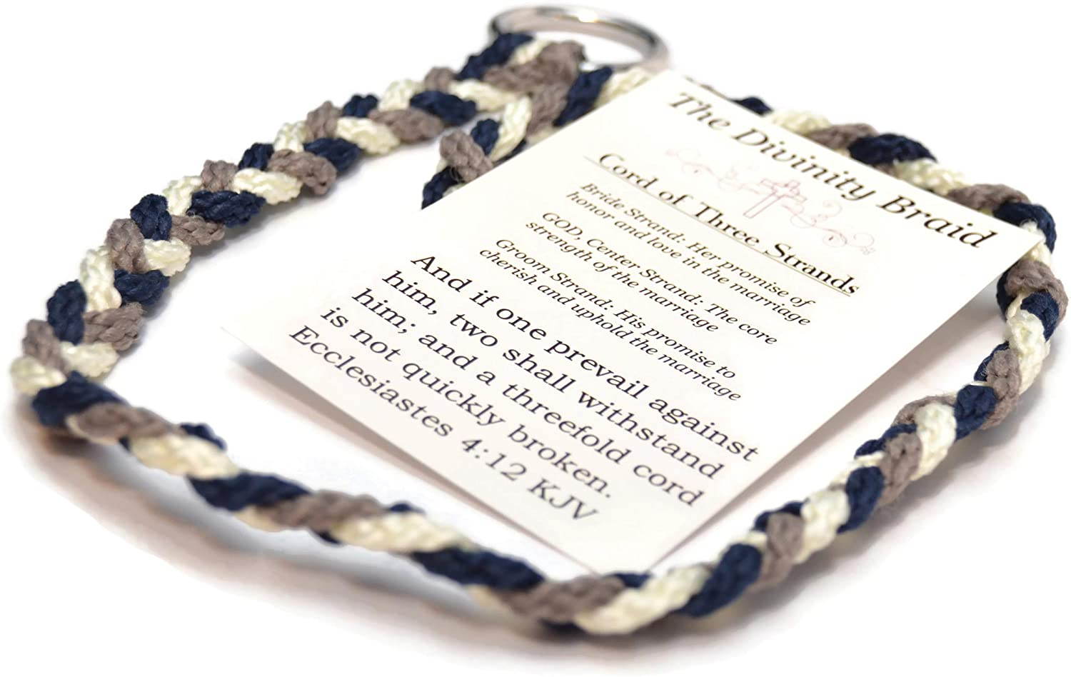 Divinity Braid Navy Pewter Cord of Three Strands #Wedding #CordOfThreeStrands #DivinityBraid #UnityCeremony #WeddingCeremony #YourWedding #DreamWedding #CordOf3