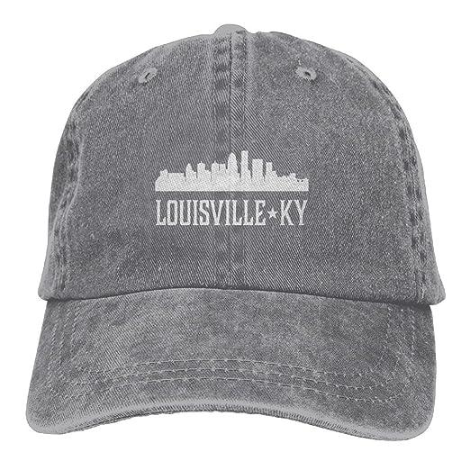 Louisville Kentucky Skyline KY Cities Adult Embroidery Cowboy Cap Running  Hat e97fc96d23a