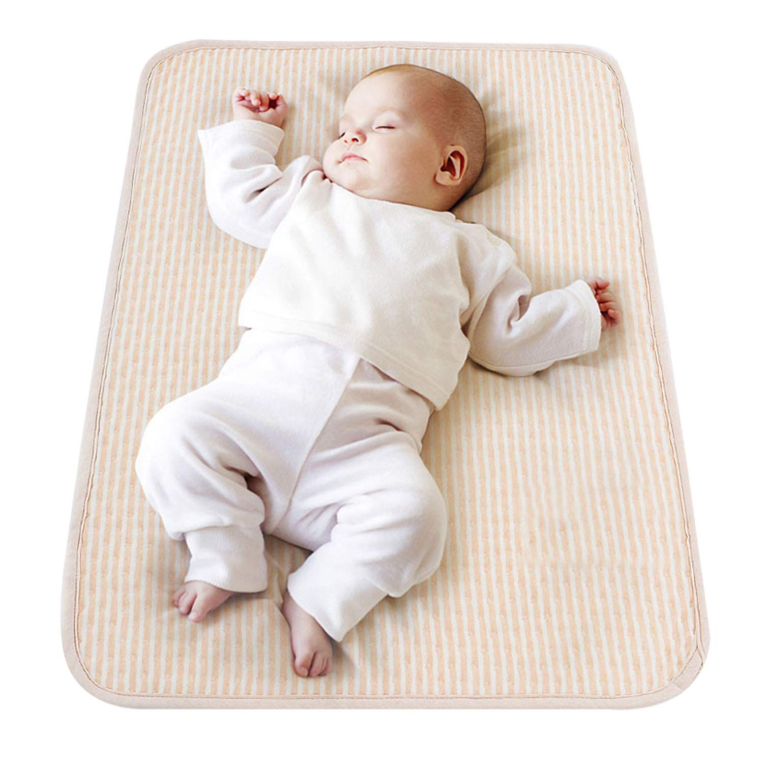 Baby Waterproof Bed Pad Washable Reusable Changing Pad Liner Cover Portable 100/% Cotton Diaper Urine Changing Mat Mattress Protector for Baby Toddler Girls Boys Newborn Elder Pet Adults 47.2 x 27.6