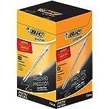 Caneta Esferográfica BIC Cristal Precisão e Suavidade, Preta, Ponta Ultra Fina, 0.7mm, 886649, 50 unidades