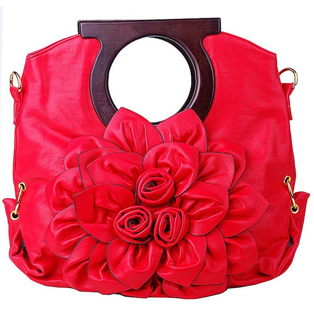 SunyixinNb Spalle a spalla singola da donna,borsetta,borsa a fiori colore caramello