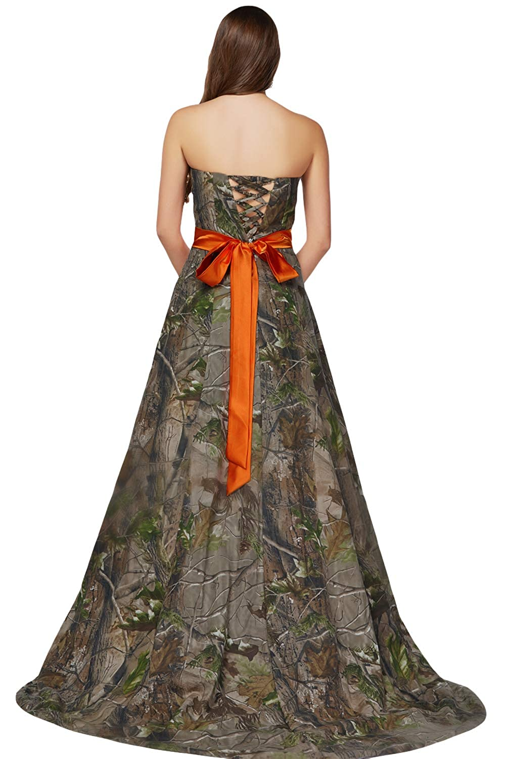 ee5163f42dc24 DINGZAN Floor Length Mother The Bride Dresses Military Evening Gown Camo:  Amazon.ca: Clothing & Accessories