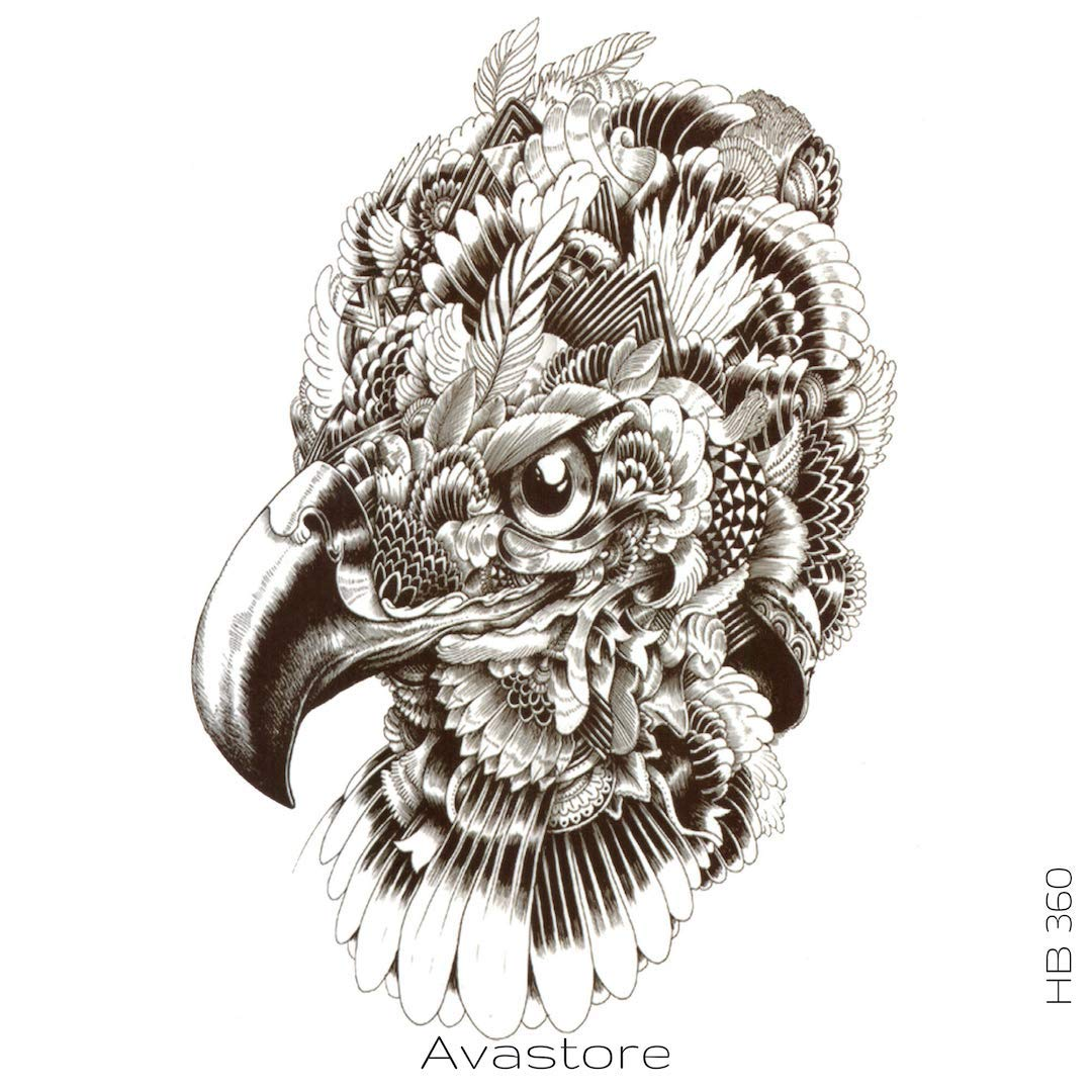 Tatuaje Temporal Águila - avastore: Amazon.es: Belleza