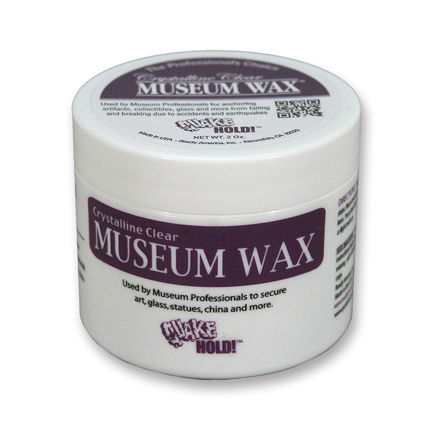 Quakehold! 66111 Museum Wax, 2 Ounce, Clear (5 Pack) by Quakehold!