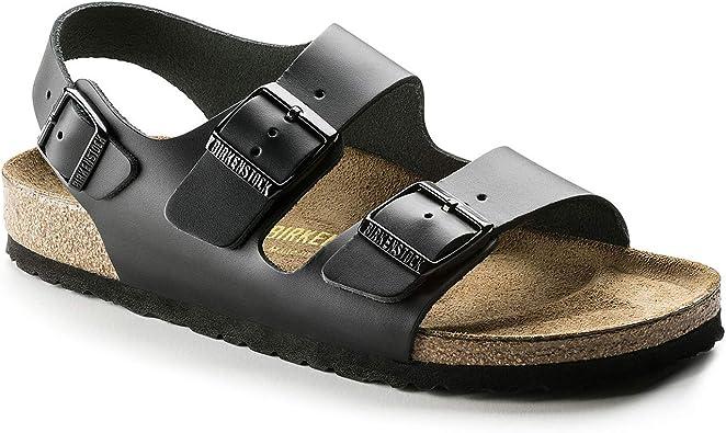birkenstock leather milano sandals