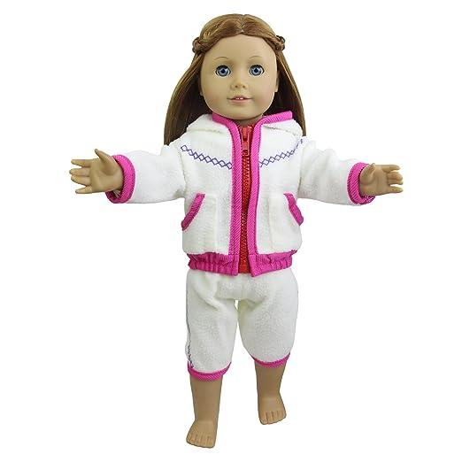 Amazon.es: ZITA ELEMENT Muñeca Ropa: Pijamas Larga de Noche para Niña Americana Chica y Otras Muñecas de 18 Pulgadas: Juguetes y juegos