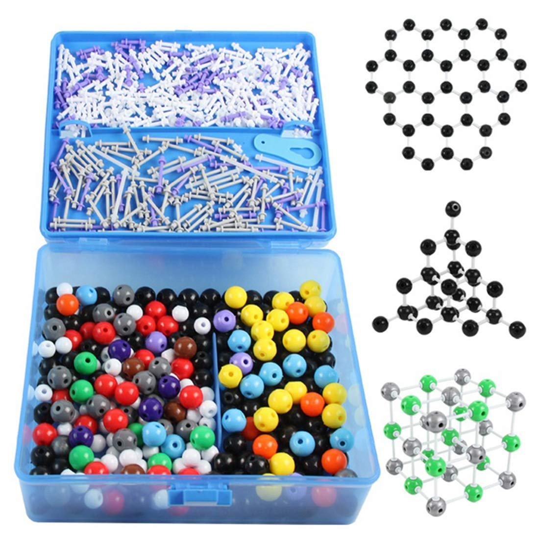 Organic Chemistry Model Kit,634 pcs Organic and Inorganic Modeling Students Teacher Set,Large Set Chemistry Teaching Model Molecular Model Kit for Teacher Students